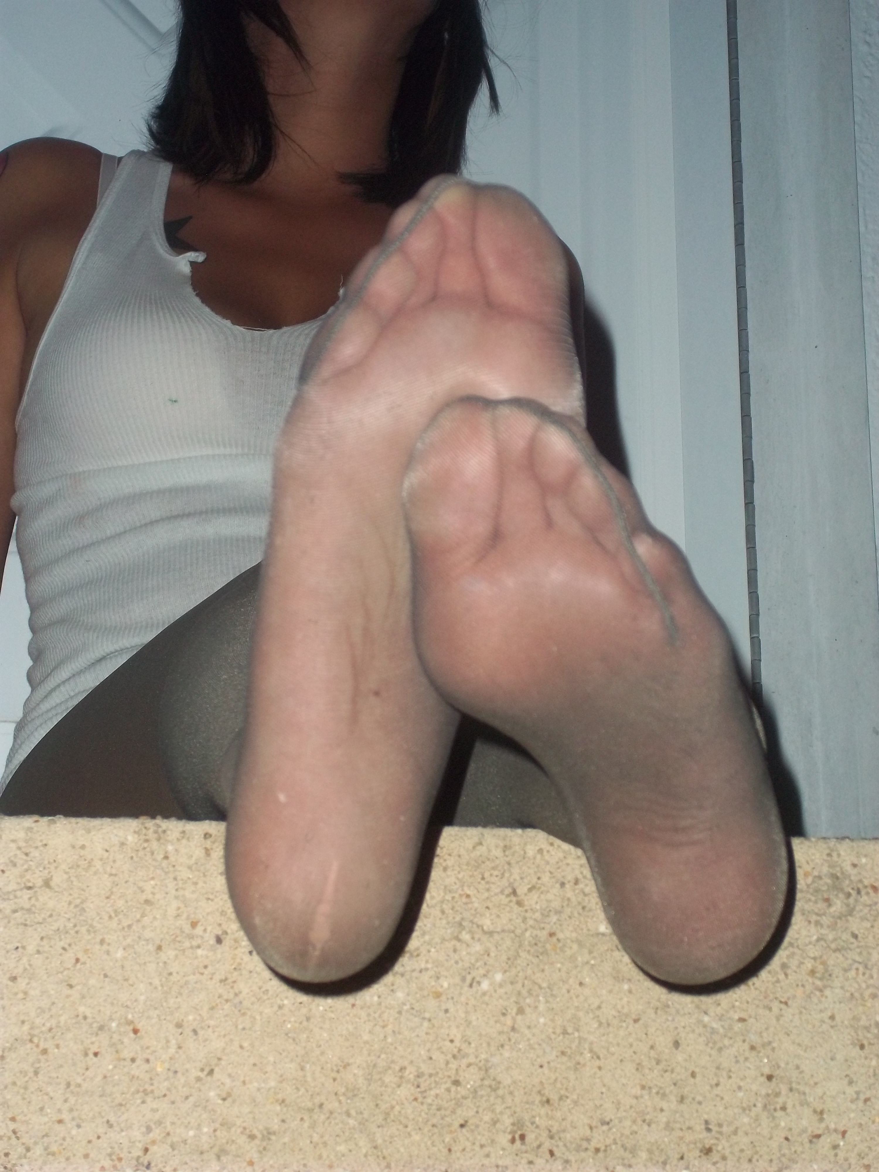 Foot Pantyhose hand
